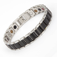 2017 Fashion Hot Jewelry Magnetic bangle Health Care Elements Magnet,FIR,ahion,Germanium 316L Stainless Steel Bracelet For Men