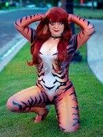 Custom Made Red Black Cat Cosplay Costume Comics Costume 3D Print Spandex Zentai Bodysuit Halloween Costume for Woman Hot Sale