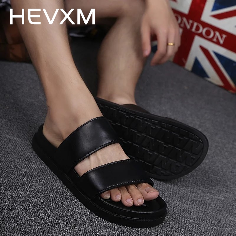 HEVXM Summer New Harajuku Korean Version Trend Man And Women Beach Black And White Flip Flop Lovers Fashion Romanesque Sandals pregnant women dress new fashion korean version fall