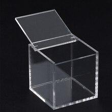 Лидер продаж прозрачный акриловый ящик для хранения Прозрачный квадратный многоцелевой Чехол для дисплея пластиковые коробки для хранения ювелирных изделий