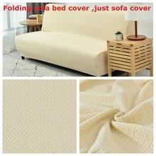 Folding sofa cover no armrest universal elastic Sofa bed