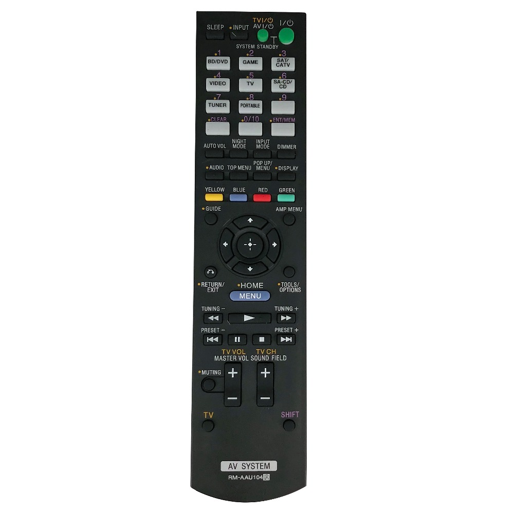 New Replacement RM AAU104 Audio Video AV Receiver Remote Control For Sony STR DH520 STRDH520 AV System in Remote Controls from Consumer Electronics