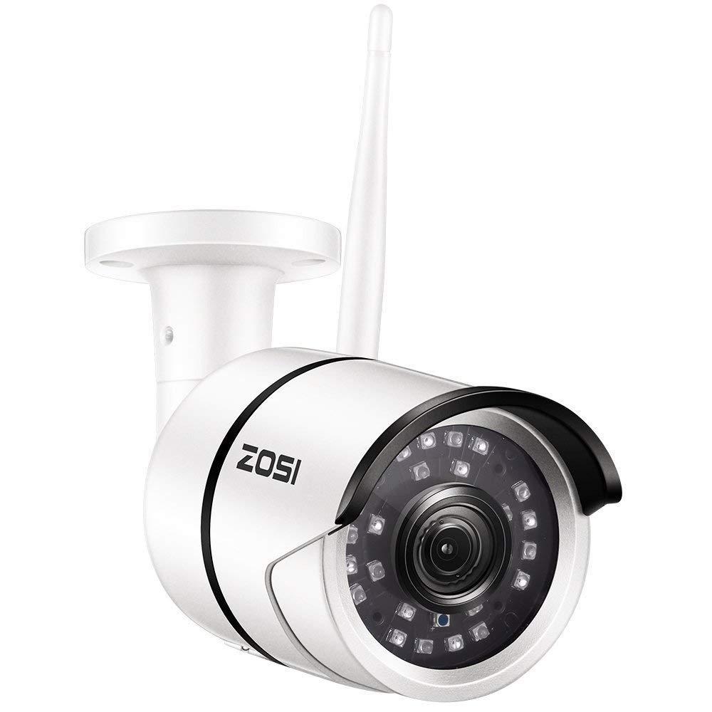 ZOSI 1080P Cámara de Vigilancia Inalámbrico 20M IR Visión Nocturna Cámara WiFi Impermeable Alarma de Movimiento