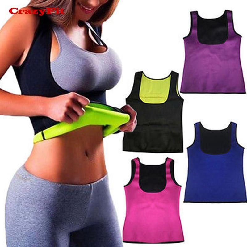 Yoga Top Vest Sport T Shirt Women Hot Shaper Fat Burning Corset Sleeveless Fitness Gym Running Workout Female Tank Vest T-shirt