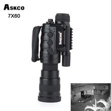 Gen1 7X60 Camera digital CCD monocular Infrared Automatic Inductive day night vision goggles telescope scope for hunting 2017 updated 200m day and night use hunting digital ccd infrared monocular night vision scope