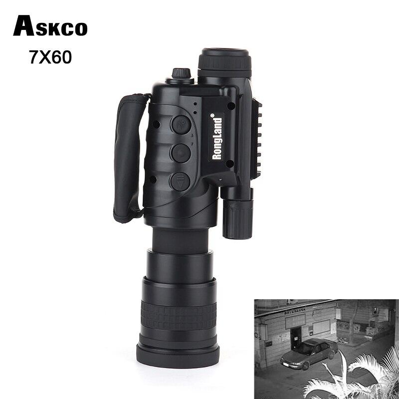 Gen1 7X60 Fotocamera digitale CCD giorno notte occhiali per la visione notturna del telescopio monoculare notturna A Raggi Infrarossi Automatico Induttivo scope per la caccia