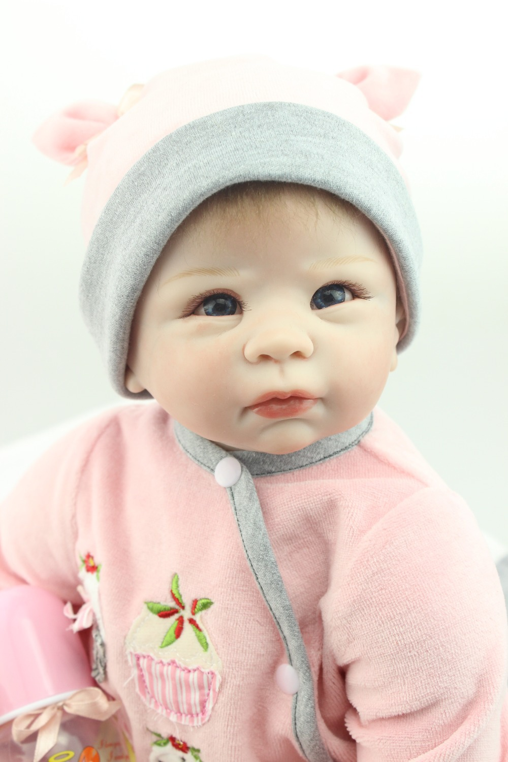 Realistic High Quality Simulation Babydoll rooted mohair Doll Silicone Vinyl Toys Soft Cotton Body Children Birthday Present newborn simulation babydoll silicone vinyl doll educational enlightenment baby toys girls present