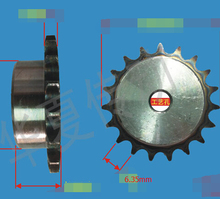 Diameter:23mm 25H  45steel 10teeths precision small sprocket chain wheel --Pitch: 6.35MM- hole d:6mm
