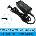 19 В 2.1A ноутбук AC адаптер питания зарядное устройство для Samsung NP900X3A NP900X3C NP900X4C NP900X1 530U3C 535U3C N130 N140 N145 N148