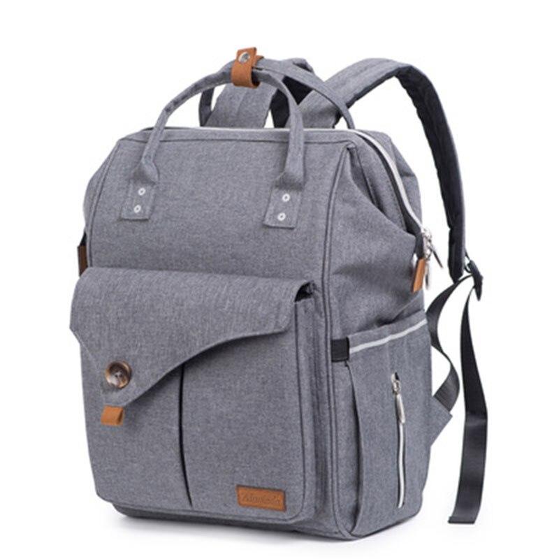 Woman Backpack Waterproof Soft Handle Solid Pocket Backpack Large Capacity Baby Stroller Bags MOOB Plus Size Streetwear
