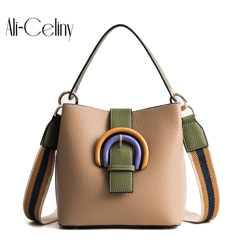 2-in-1 Brand original design Bucket Bag Women Handbags High Quality Designer Fashion Style Strap Crossbody Bag Bolsos tote