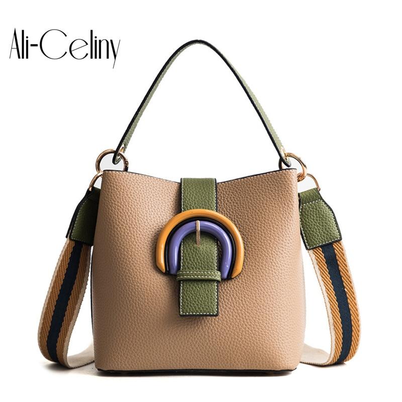 2-in-1 Brand original design Bucket Bag Women Handbags High Quality Designer Fashion Style Strap Crossbody Bag Bolsos tote