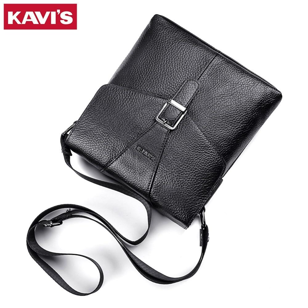 KAVIS Messenger Bag Men s Genuine Leather Shoulder Crossbody Handbag Bolsas Sac Sling Chest For Briefcase