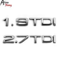 Rhino Tuning 1 9 TDI Car Emblem 2 7 TDI Auto Styling Badge Turbo Direct Injection