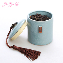Jia-gui luo Chinese ceramic tea box simple sealed can collect all kinds of snacks and precious herbs life clever collection