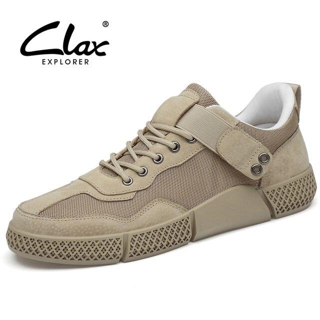 CLAX Mans Giày Da Thời Trang 2019 Mùa Hè của Người Đàn Ông Giản Dị Giày Lưới Thoáng Khí Giày Đi Bộ Giày Dép