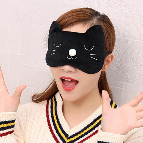 Fashion Sweet Pink 3D Cat Sleep Mask Natural Sleeping Eye Mask Eyeshade Cover Patch Travel Blindfold Ice Bag Hot&Cold Eye Mask Multan