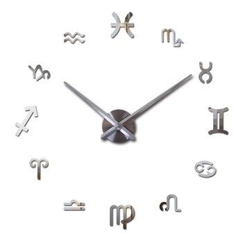 new fashion diy wall clock europe 3d big quartz watch clocks living room large home decorative still life circular stickers 9