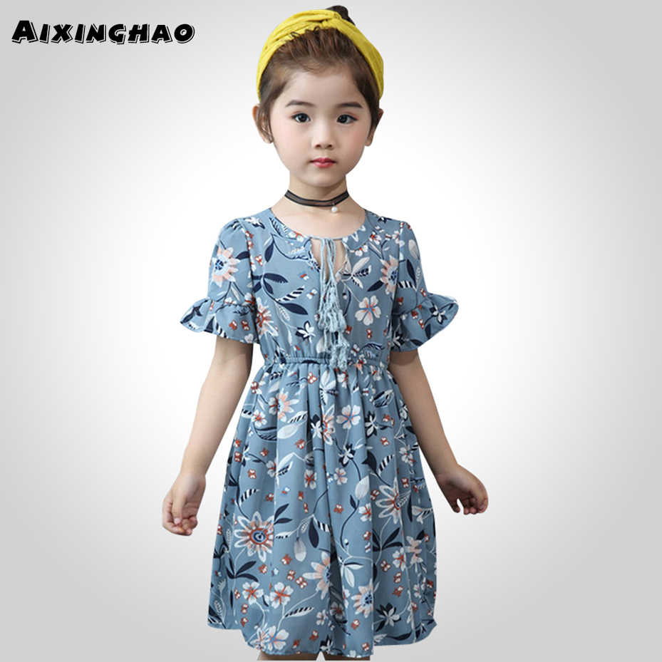 Detail Feedback Questions about Big Girl Summer Dresses Floral Vestidos  Children Casual Style Dress Kids Teenage Kids Clothes Girls 6 8 10 12 13 14  Year on ... 0400c3d83163