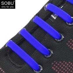 16 teile/satz Lauf Keine Krawatte Schnürsenkel Mode Unisex Athletisch Elastische Silikon Schuh Spitze Alle Turnschuhe Fit Gurt N010