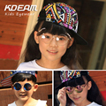 KDEAM Steampunk The Flip Kids Sunglasses Vintage Round Children Glasses Double Lens Baby Sun Glasses Gradient Anti-UV Sunglass