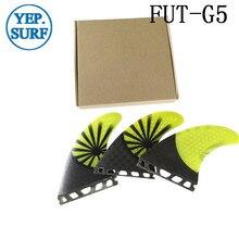 New Future Fin G5 Honeycomb Fibreglass carbon fiber Yellow Surfing Surfboard Size Quilhas