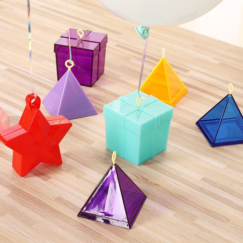 Event & Party Festive & Party Supplies Cute Small Gravity Block Wedding Bright Color Hanging Balloon Weight Tassel Valentines Day Christening Table Party Decorations