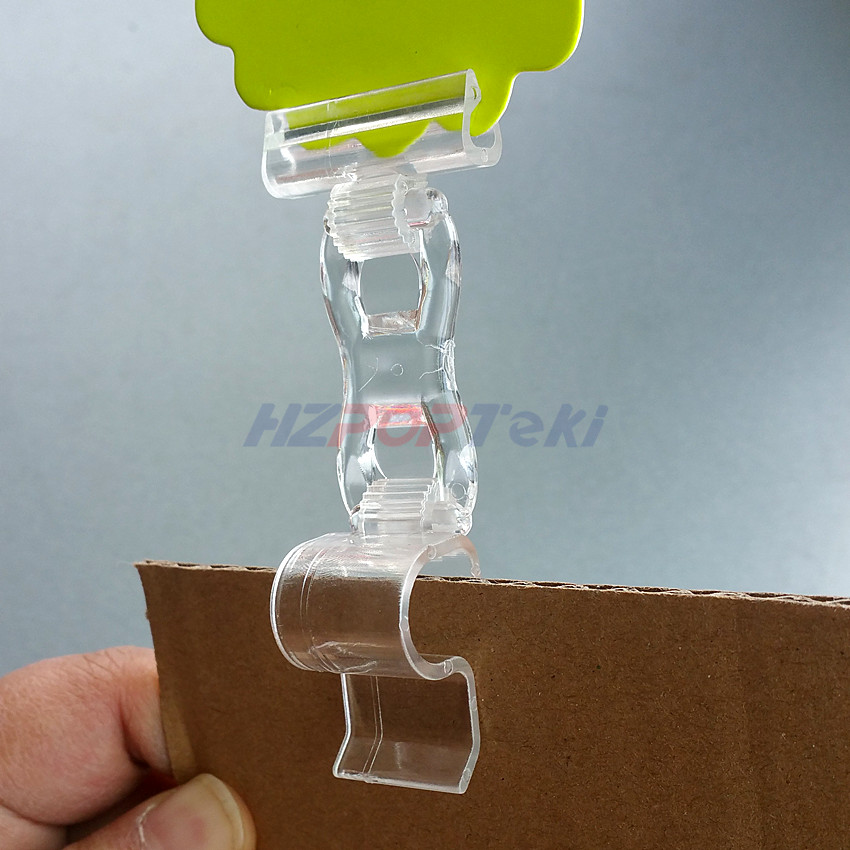 Shop For Cheap Plastic Clear Pc Pop Paper Price Label Sales Card Display Show Clamp Clip Holders For Seafood Area Glass Promotions 50pcs
