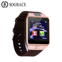 Купить с кэшбэком Sograce Smartwatch DZ09 Bluetooth Smart Watch Support SIM TF Cards Fitness Pedometer Tracker Watch Phone For Android IOS iPhone