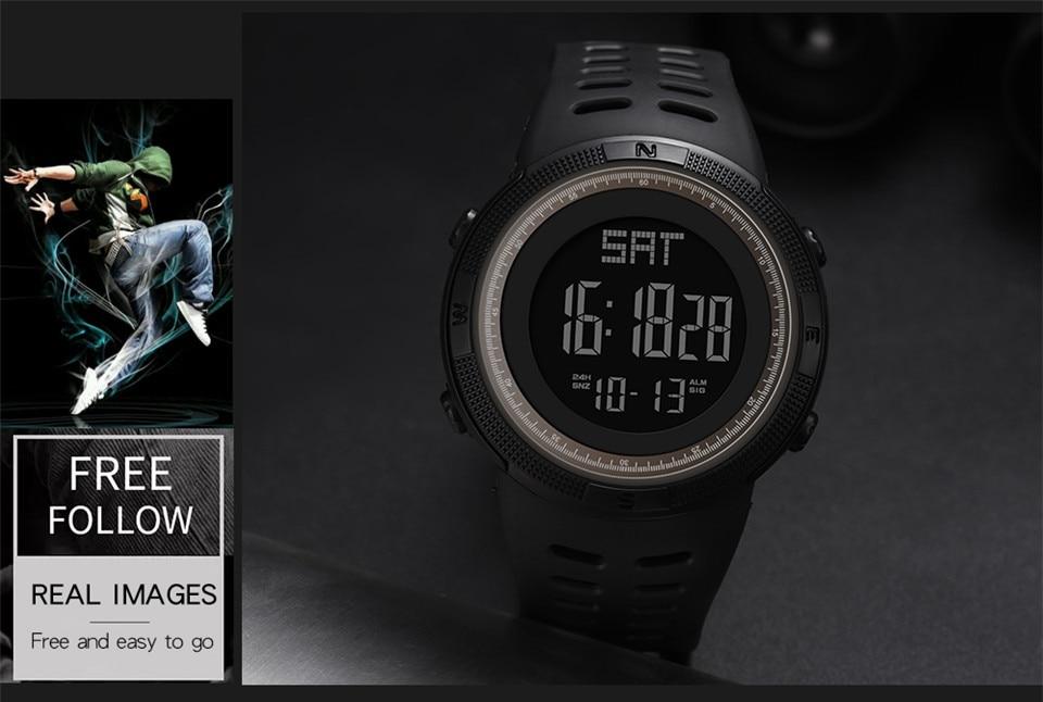 Sports Electronic Watches Men Countdown Double Time Watch Alarm Chrono Digital Wristwatches 50M Waterproof Outdoor Running Watch (7)