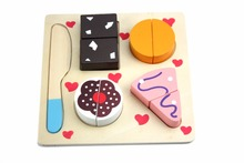 wooden Kitchen toys Cut Fruits Vegetables Dessert Kids Cooking Toy Food Pretend Play Puzzle Educational cooking Toy For Baby(China)