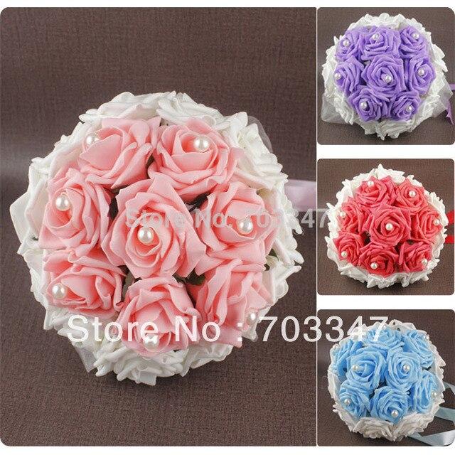Factory Direct Sale 8pcs Lot Wedding Bouquet For Brides