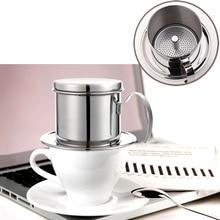 Stainless Steel Coffee Drip Filter Pot For Vietnam Maker Manual Mocha Dripper Teapot Stovetop Pots Portable