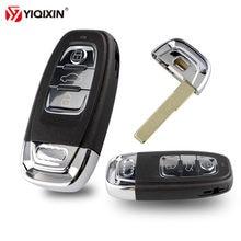 Yiqixin 3 кнопки умный дистанционный Автомобильный ключ оболочка