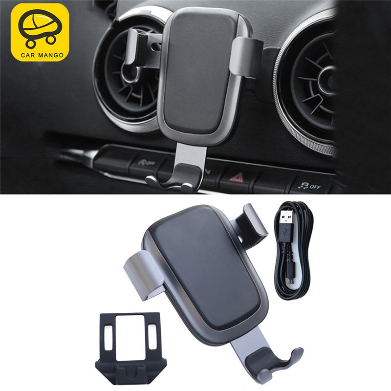 CAR MANGO Car Phone Holder Air Vent Mount Stand Mobile Gravity Smartphone Cellphone Support for Audi A6 2012