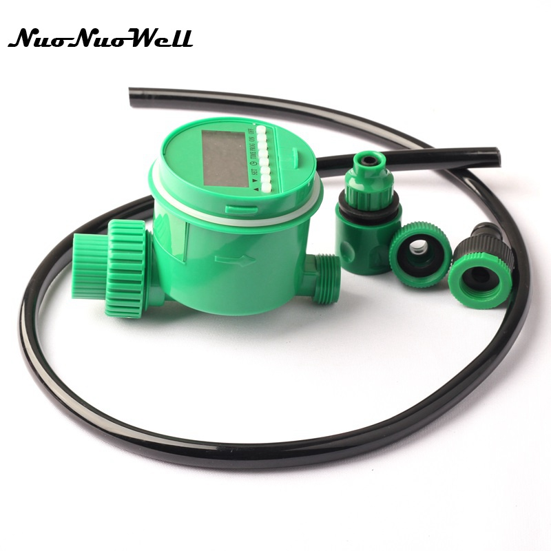 NuoNuoWell Automatic Electronic Garden Watering Kits Water Timer Irrigation Timer for Garden Yard Irrigatino Watering System