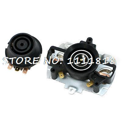 2 in 1 Spare Part 3 Pin Tip Thermostat Set 10A 250V Volts AC for Electric Kettle 250v 20a 3 pin terminals temperature control switch capillary thermostat part
