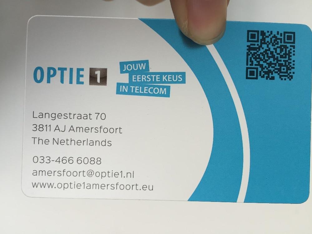 custom business cards printing transparent PVC plastic visit name ...