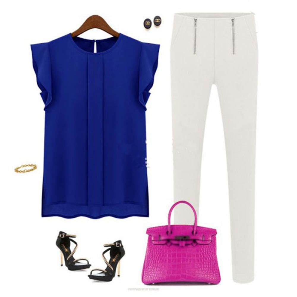 Aliexpress.com : Buy 2017 Elegant Women Blouse Short Sleeve ...