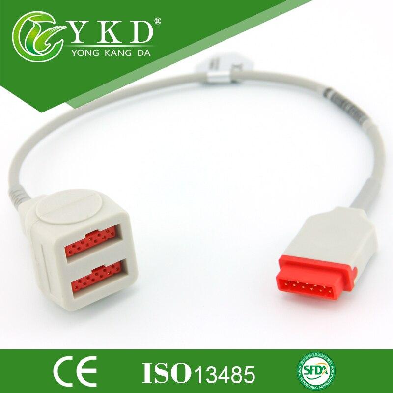 GE-Marqutte Pressione trasduttore adpter cavo Durevole, IBP cavo, accessori mediciGE-Marqutte Pressione trasduttore adpter cavo Durevole, IBP cavo, accessori medici