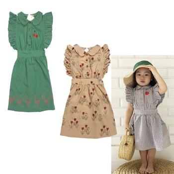 1128a6f07 Niños vestidos de verano de 2019 Bobo C marca de volantes de las niñas sin mangas  vestido de ropa de bebé niña