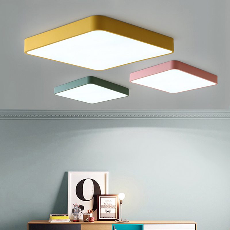 Remote control Surface Mounted Modern Led Ceiling Lights lamparas de techo Rectangle acrylic led Ceiling lights lamp fixtures 2017 acrylic modern led ceiling lights fixtures for living room lamparas de techo simplicity ceiling lamp home decoration
