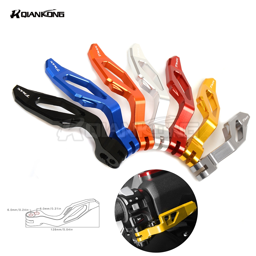 R QIANKONG For Yamaha T-MAX500 TMAX530 tmax500 tmax T max 530 500 Motor accessories CNC Motorbike Stands Parking Brake Lever cnc aluminum motorcycle rear passenger foot pegs pedals footrests for yamaha tmax 500 tmax 530 t max500 t max530 t max mt07 mt09