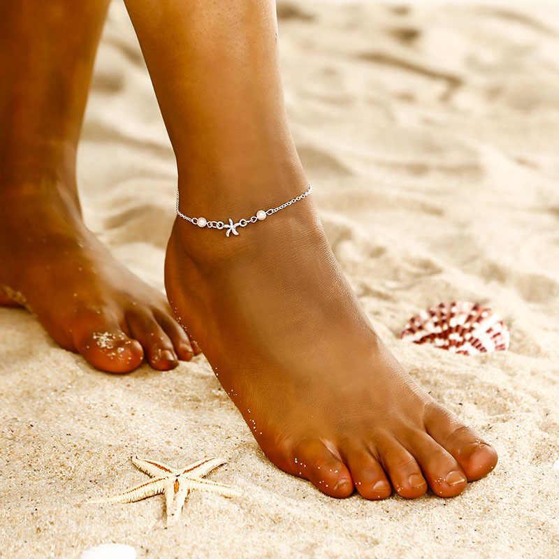 SexeMara 足チェーンチベットシルバーメッキ中空梅の花のハート型アンクレット Tornozeleira ブレスレット脚に Pulsera 女性のための
