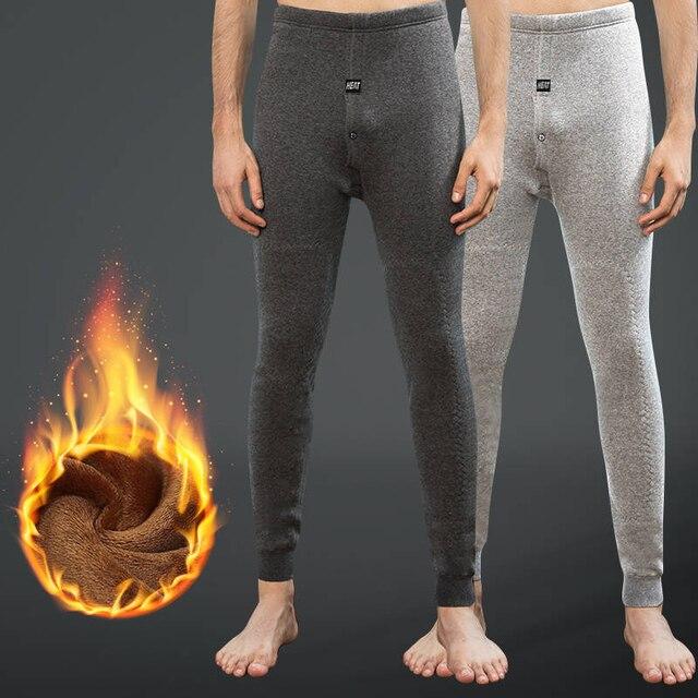 4a75e8a9f78c67 Feilibin Winter Thermal Underwear Bottoms Men Thermos Pants Male Warm Wool  Cotton Thicken Underwear Trousers Men's Warm Pants