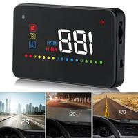 A200 3.5 Inch Car HUD Head Up Display Speedometer OBD2 II EUOBD Auto Projector Parameter Display with Overspeed Warning function