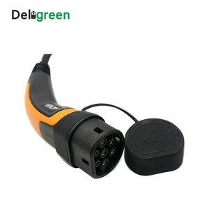 Image 3 - Cable de carga EV tipo 2a Tipo 2 IEC62196, 22kw, 11KW, 16A, 32A, con Cable de 5 metros, tres cables de fase TUV/UL en espiral