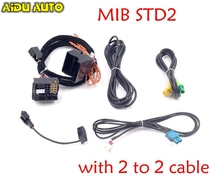 MIB STD2 ZR NAV Discover Pro Radio Adapter Cable Wire harness with 2 to cable For Golf 7 MK7 Passat B8 Tiguan MQB CAR