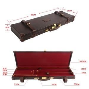 Image 5 - Tourbon étui universel pour pistolets de chasse, rangement pour fusils de chasse rigides, porte fusils en cuir véritable, avec serrure, accessoires pour pistolets de tir