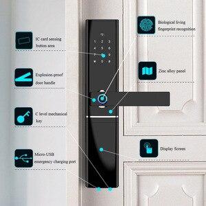Image 3 - Умный домашний замок без ключа безопасности, Wi Fi замок с паролем и RFID картой, беспроводной дистанционный шлюз с приложением